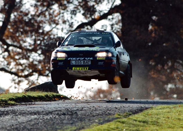Flying Subaru Impreza