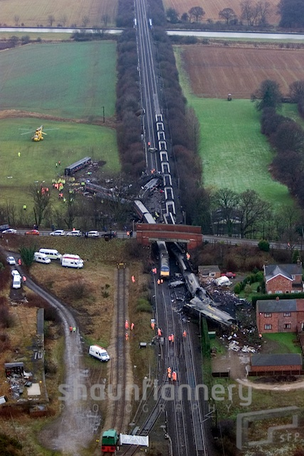 Fatal rail crash at Great Heck nr. Selby, Yorkshire