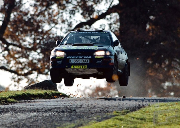 Colin McRae on his way to victory in the 1995 Network Q RAC Rally