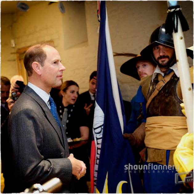 Pix: Shaun Flannery/shaunflanneryphotography.com COPYRIGHT PICTURE>>SHAUN FLANNERY>01302-570814>>07778315553>> 25th September 2015 National Civil War Centre, Old Magnus Building, Appletongate, Newark, NG24 1JY. HRH Prince Edward, The Earl of Wessex, to open the National Civil War Centre
