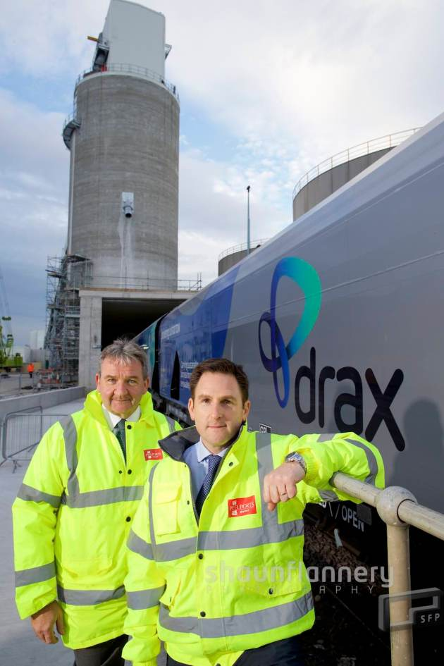 Gary Hodgson (left), Chief Operating Officer Peel Ports Group pictured with Andy Koss, CEO of Drax Power Ltd.